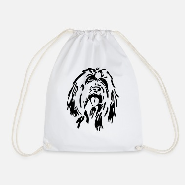 Bearded Collie Bearded Collie - Drawstring Bag