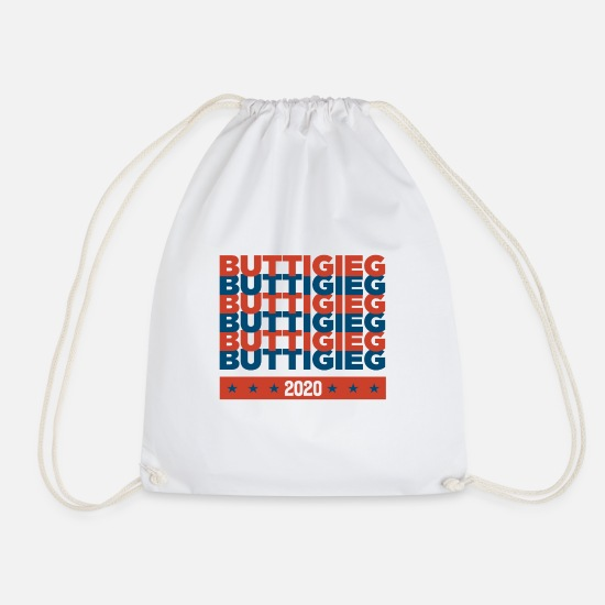 Politics Bags & Backpacks - Pete Buttigieg for President 2020 campaign red - Drawstring Bag white