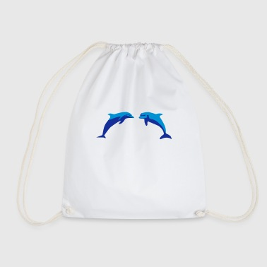 Dolphins, Dolphin - Drawstring Bag
