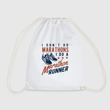I don't do Marathons i do a Marathon runner  - Drawstring Bag