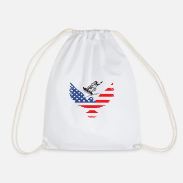 Mountain Love USA | America | Mountain sports | Sports | - Drawstring Bag