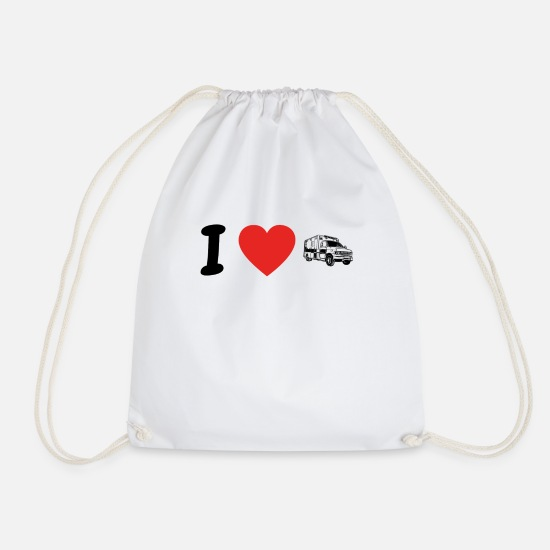 Love Bags & Backpacks - I love ambulance ambulance png - Drawstring Bag white