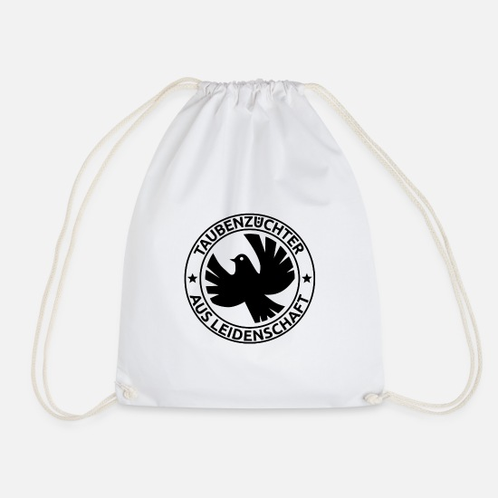 Pigeon Bags & Backpacks - Pigeon carrier pigeons pigeon bird gift - Drawstring Bag white