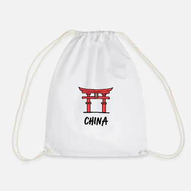Shrine China shrine Torii gate pray prayer Asia - Drawstring Bag