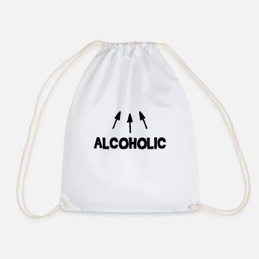 Alcoholic Alcoholic alcohol - Drawstring Bag