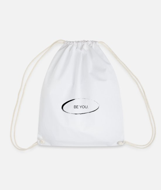 Birthday Bags & Backpacks - Be you - Drawstring Bag white