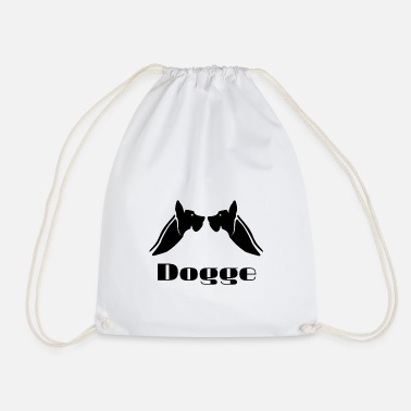Bow Wow bulldog, dog, animal, bark, bow-wow, - Drawstring Bag