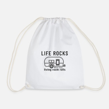 Life Rocks when Your Living Room Rolls - Drawstring Bag