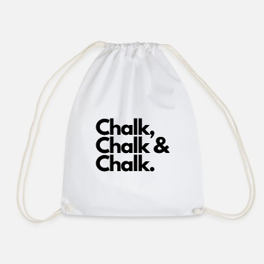 Chalk Chalk - Drawstring Bag