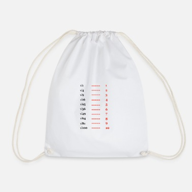 Pull The Root Square root, root of ... - Drawstring Bag