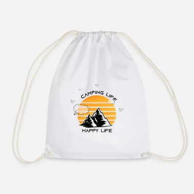 Happy Camping shirt - Drawstring Bag