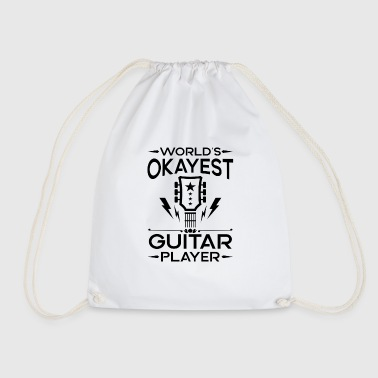 World's Okayest Guitar Player - cool band gift - Drawstring Bag