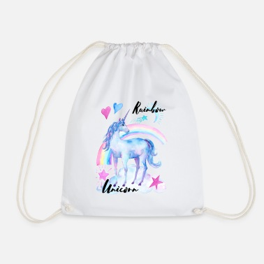 Rainbow Unicorn Rainbow Unicorn / Rainbow Unicorn - Drawstring Bag