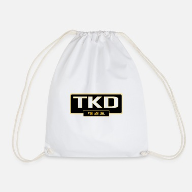 Korea MATS212 TKD large with korean text - Drawstring Bag