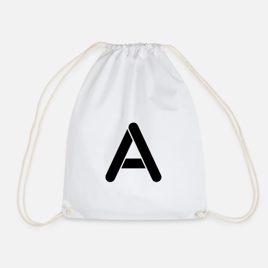 Gift Idea Bags & Backpacks - The letter A - Drawstring Bag white