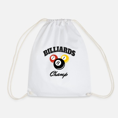 Champ Champion Billard Champ Pro Champion - Bon joueur - Sac à dos cordon