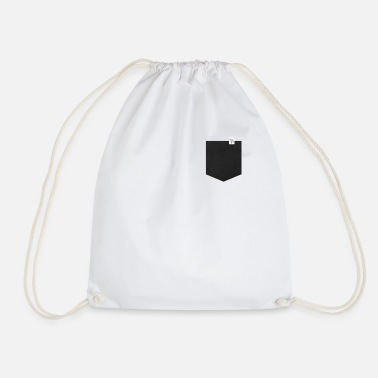 Leather Leather look - Drawstring Bag