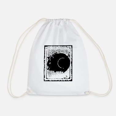 Chinese Zodiac Pig Abstract - Drawstring Bag