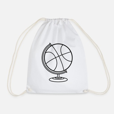 Basket globe basketball club play basket throw club - Drawstring Bag