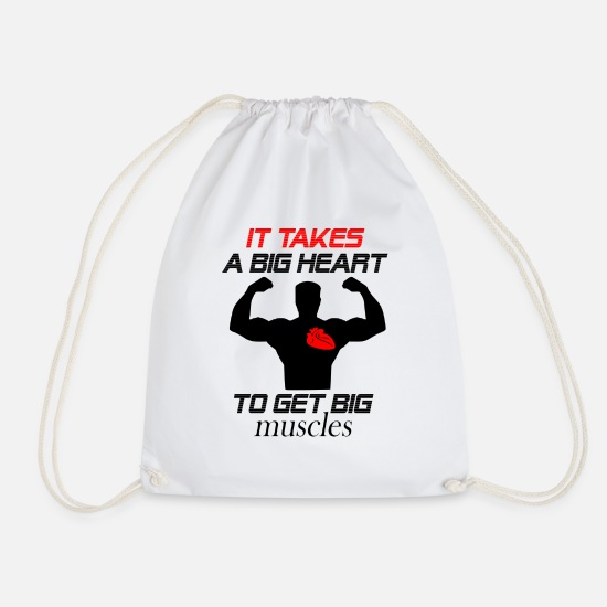 Big Ben Bags & Backpacks - it takes a big heart - Drawstring Bag white