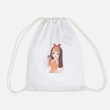 Picture Portrait jolie fille photo - Sac de sport léger