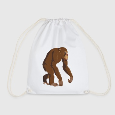 Chimpanzee - Drawstring Bag