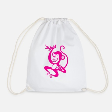 Pink Monkey - Drawstring Bag