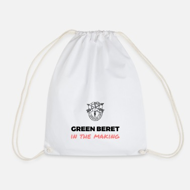 Green Beret in the Making - Drawstring Bag