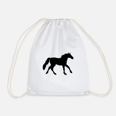 Gallop Warmblood gallop, galloping warmblood - Drawstring Bag