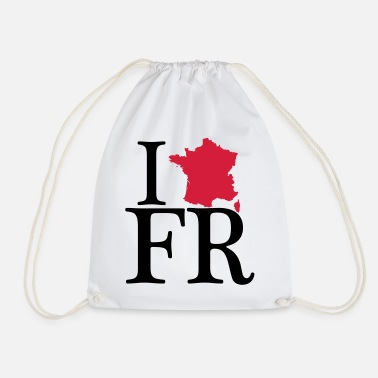 I Love I love FR - I love France - Turnbeutel