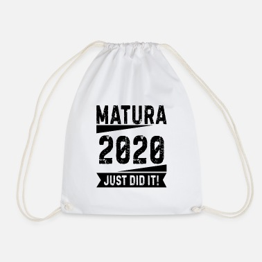 Senior School graduation Matura saying 2020 gift - Drawstring Bag