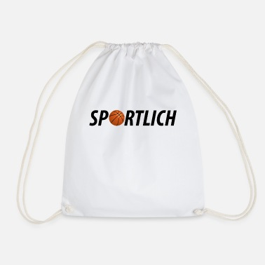 Sporty Sporty sporty basketball sport motif - Drawstring Bag
