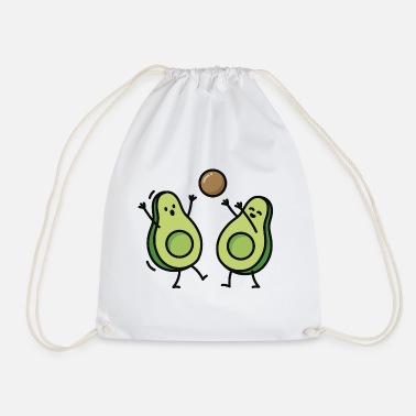 Food Avocado handball basketball korfball - Drawstring Bag