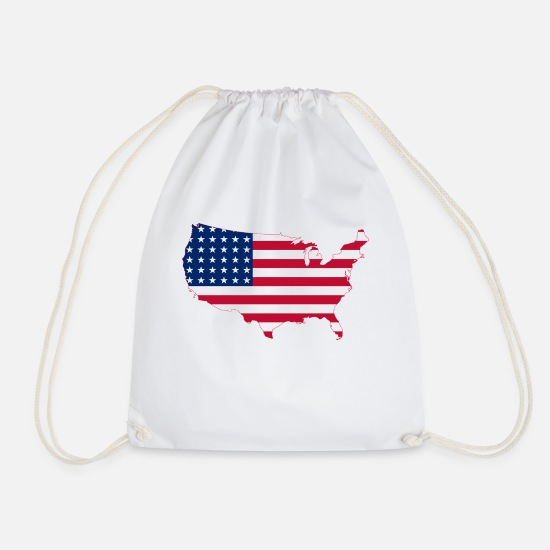 Federal State Bags & Backpacks - United states USA - Drawstring Bag white