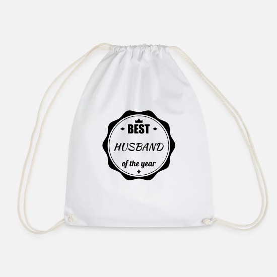 Bride Bags & Backpacks - Marriage Wedding Husband Mari Love Mariage Ehemann - Drawstring Bag white