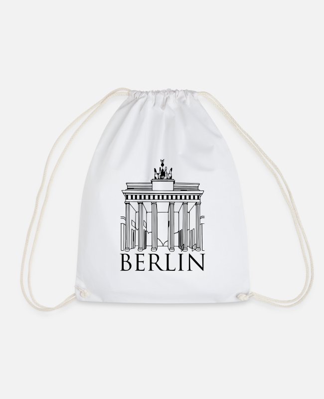 Travel Bags & Backpacks - berlin - Drawstring Bag white