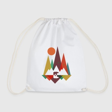 Bear in the mountains - Drawstring Bag