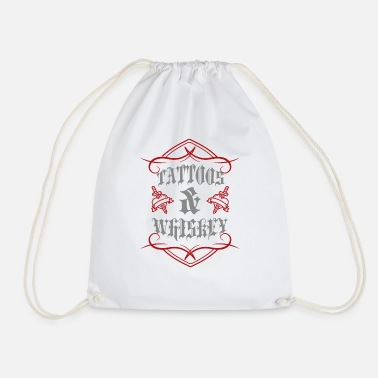 Tattoo Tattoo / Tattoos: Tattoos & Whiskey - Drawstring Bag