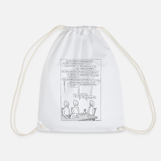 Cartoon Character Bags & Backpacks - Meeting - Drawstring Bag white