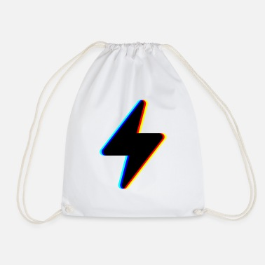 Severe Weather &amp lightning stream symbol logo - Drawstring Bag