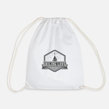 Sailboat Sailor Sailing Yachting Vintage Retro Gift - Drawstring Bag
