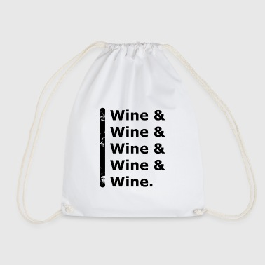 Wine & Wine - Drawstring Bag