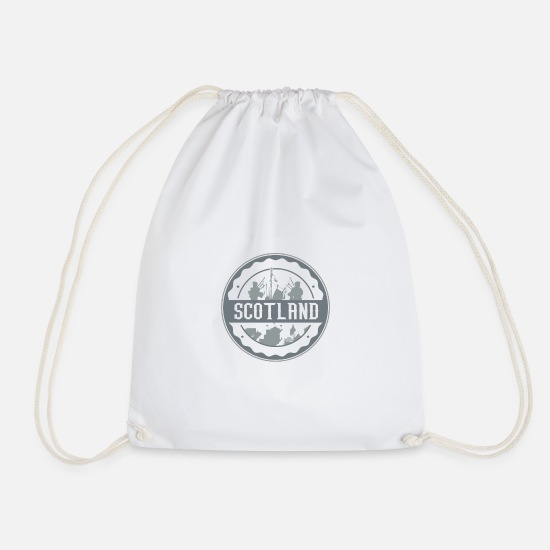 Scotland Bags & Backpacks - Scotland - Drawstring Bag white