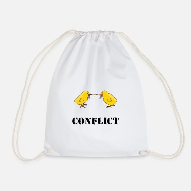 Conflict conflict - Drawstring Bag