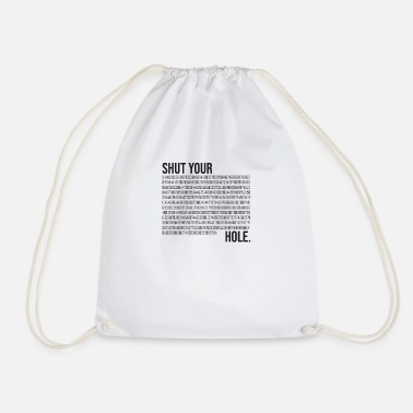 Shut Your Pi Hole - Drawstring Bag