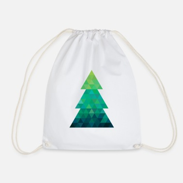 Modern style Christmas tree XMAS - Drawstring Bag