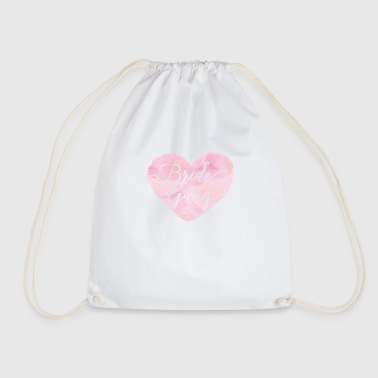 bride_gang_watercolour_heart - Drawstring Bag