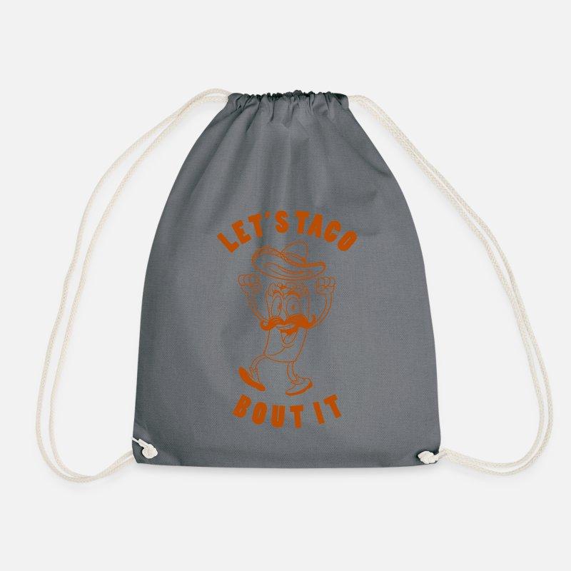 Taco Graphic Drawstring Bag  6f7d9cca858f0