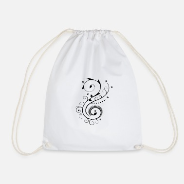 Vine vine pattern - Drawstring Bag