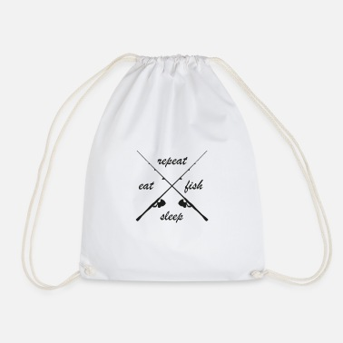 fish repeat - Drawstring Bag